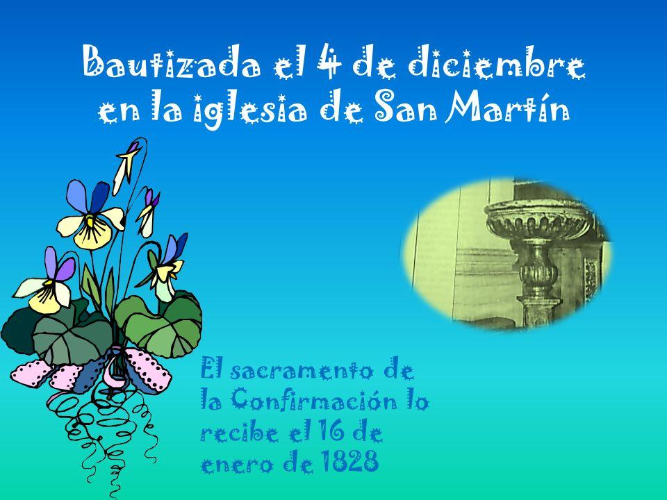 Bautizada el 4 de diciembre en la iglesia de San Martín