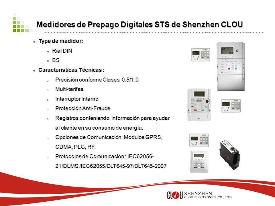 Medidores de Prepago Digitales STS de Shenzhen CLOU