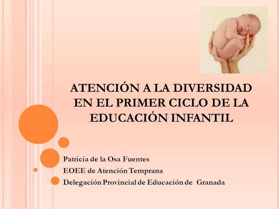 ATENCIÓN A LA DIVERSIDAD EN EL PRIMER CICLO DE LA EDUCACIÓN INFANTIL