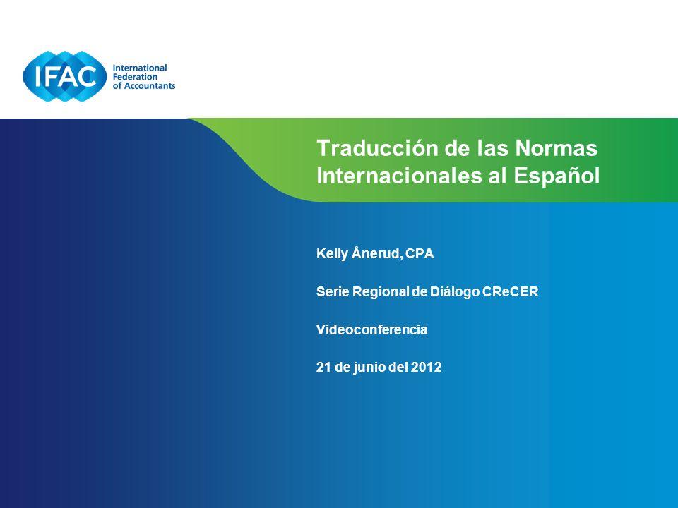 Traducción de las Normas Internacionales al Español