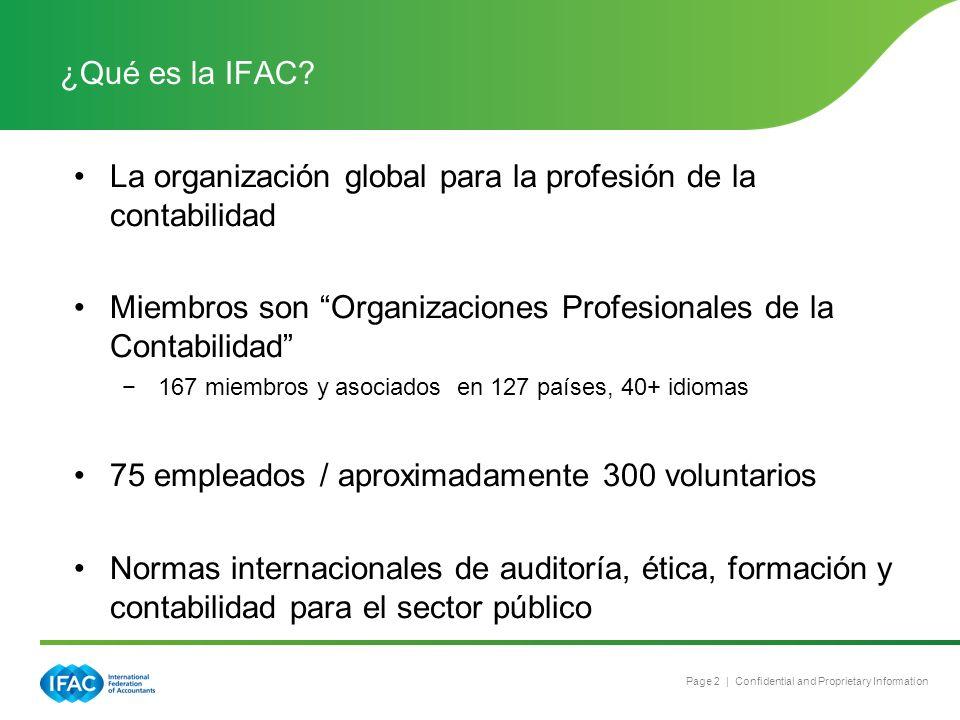 La organización global para la profesión de la contabilidad