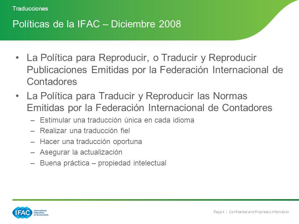 Políticas de la IFAC – Diciembre 2008