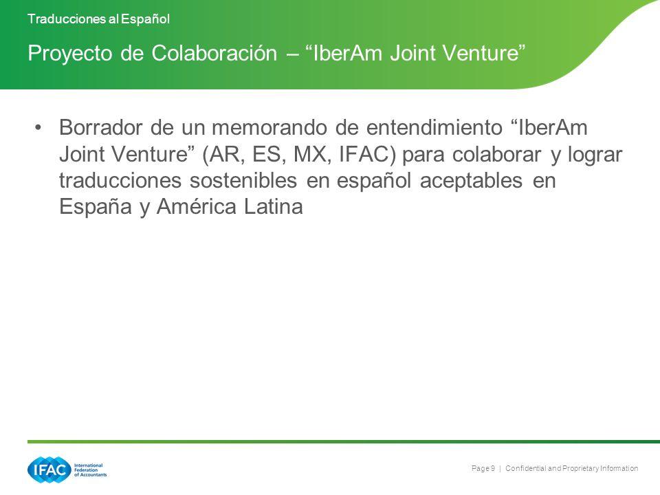 Proyecto de Colaboración – IberAm Joint Venture