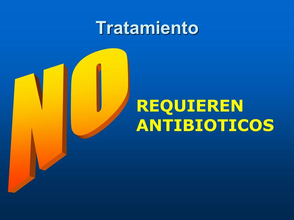 Tratamiento NO REQUIEREN ANTIBIOTICOS