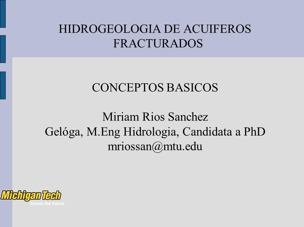 HIDROGEOLOGIA DE ACUIFEROS FRACTURADOS