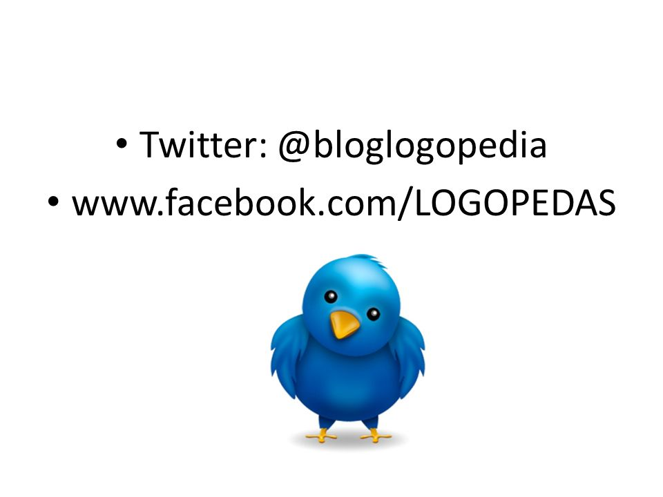 Twitter: @bloglogopedia