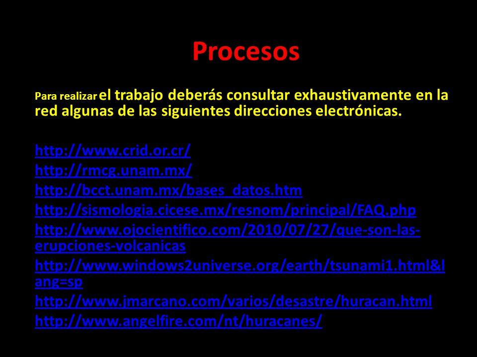 Procesos http://www.crid.or.cr/ http://rmcg.unam.mx/