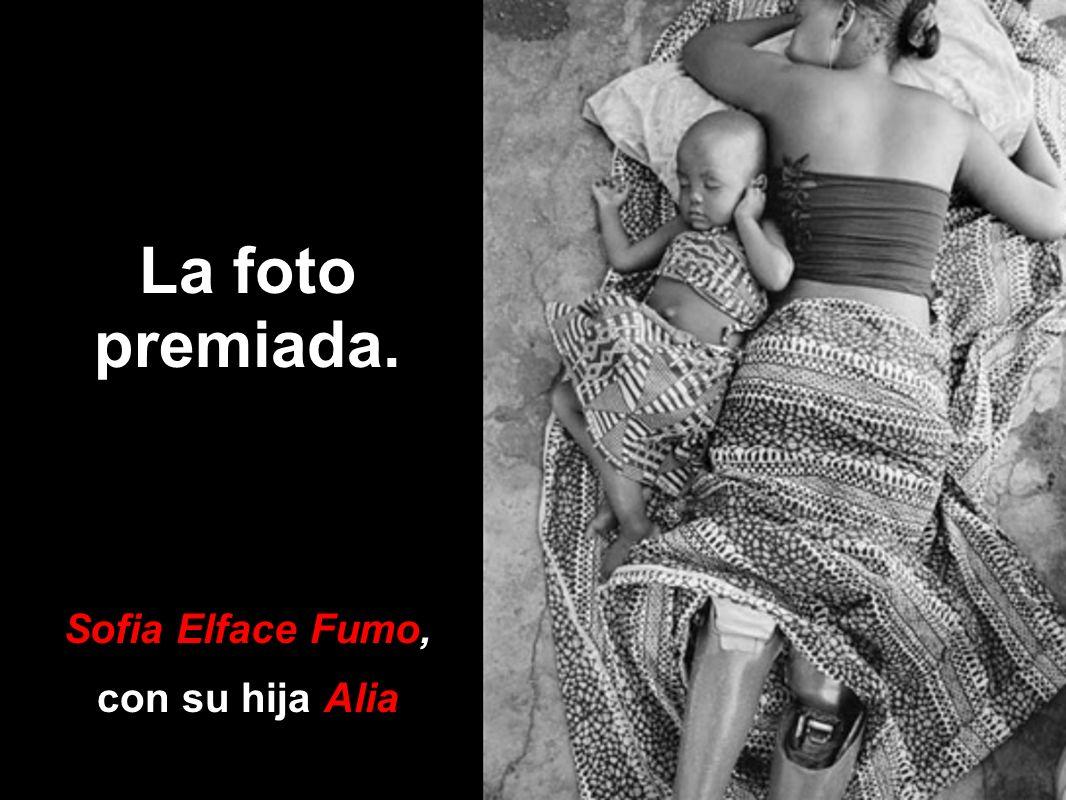La foto premiada. Sofia Elface Fumo, con su hija Alia