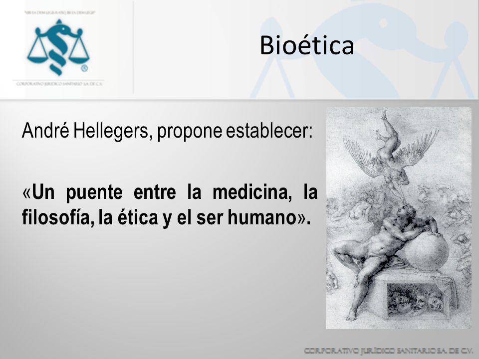 Bioética André Hellegers, propone establecer: