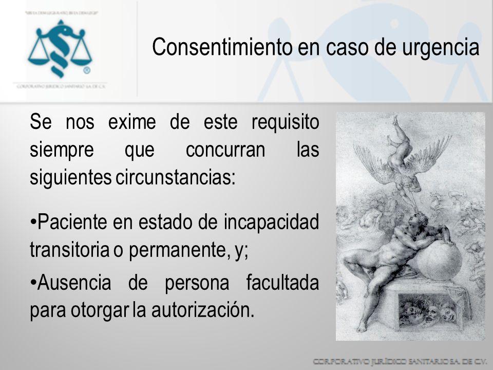 Consentimiento en caso de urgencia