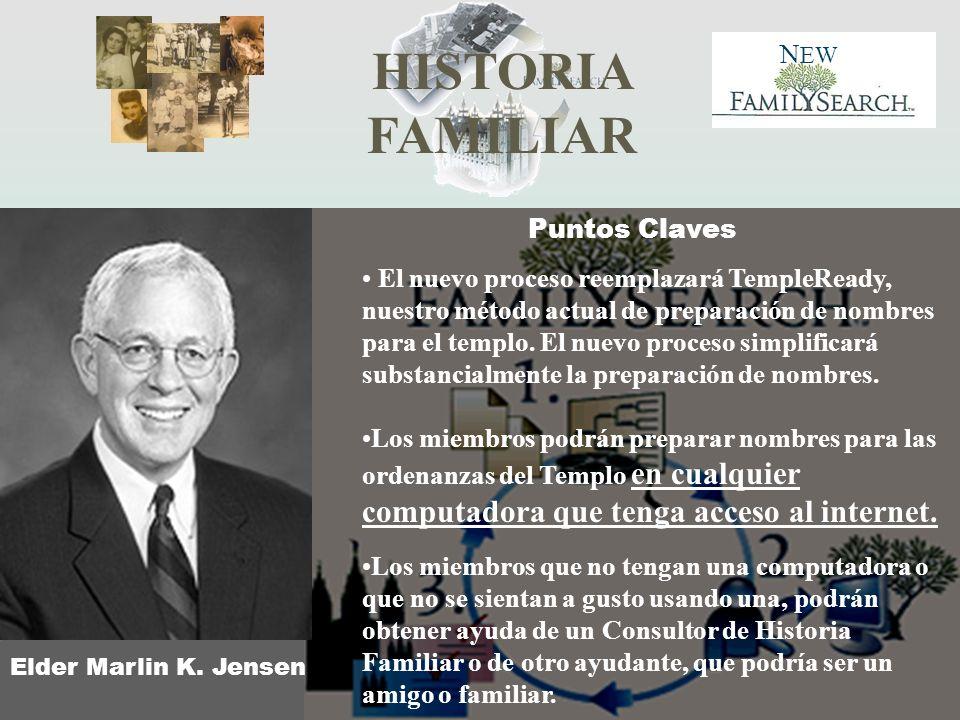 Elder Marlin K. Jensen Puntos Claves.