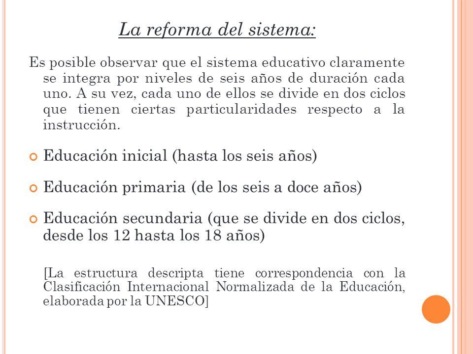 La reforma del sistema: