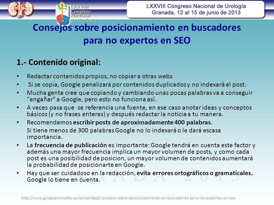Consejos sobre posicionamiento en buscadores para no expertos en SEO