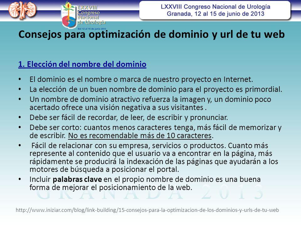 Consejos para optimización de dominio y url de tu web