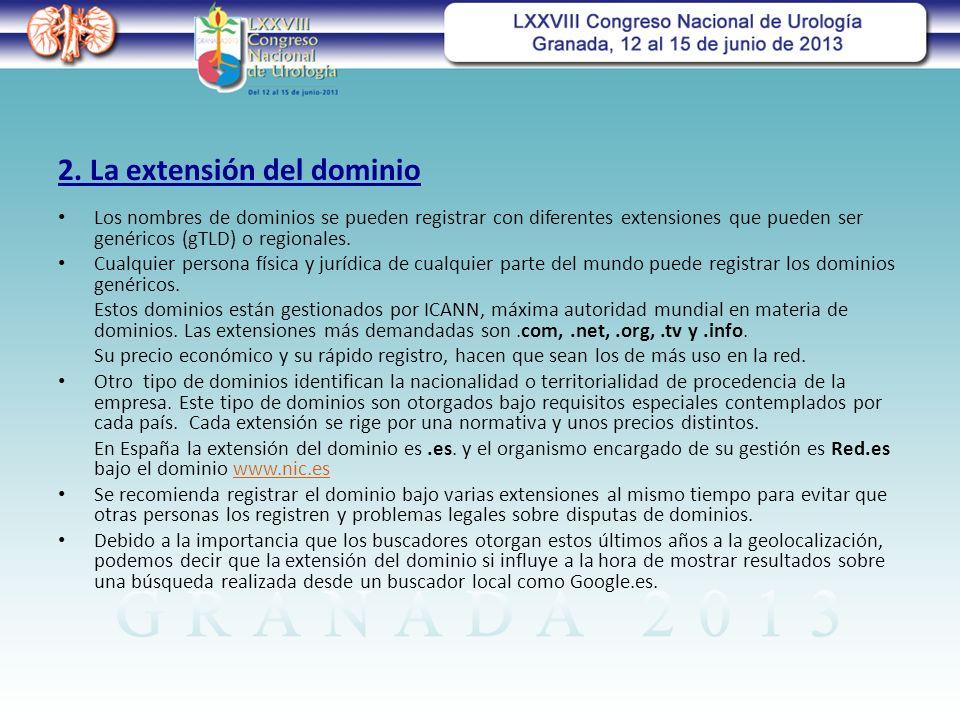 2. La extensión del dominio