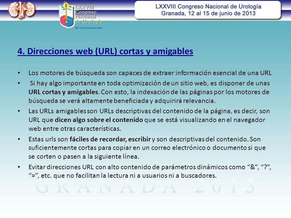 4. Direcciones web (URL) cortas y amigables
