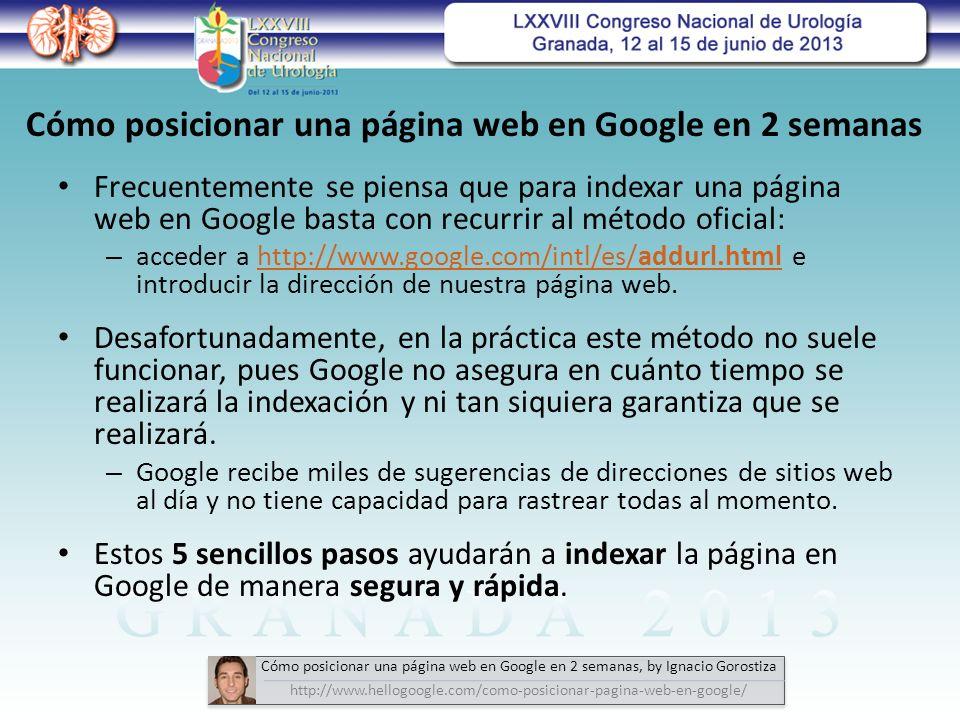 Cómo posicionar una página web en Google en 2 semanas
