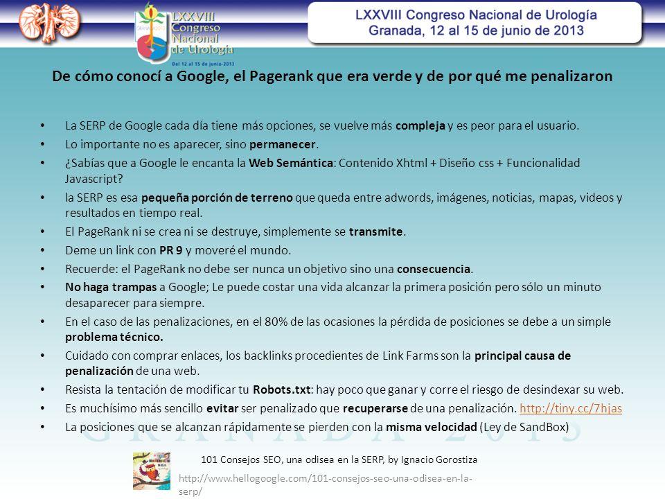 De cómo conocí a Google, el Pagerank que era verde y de por qué me penalizaron