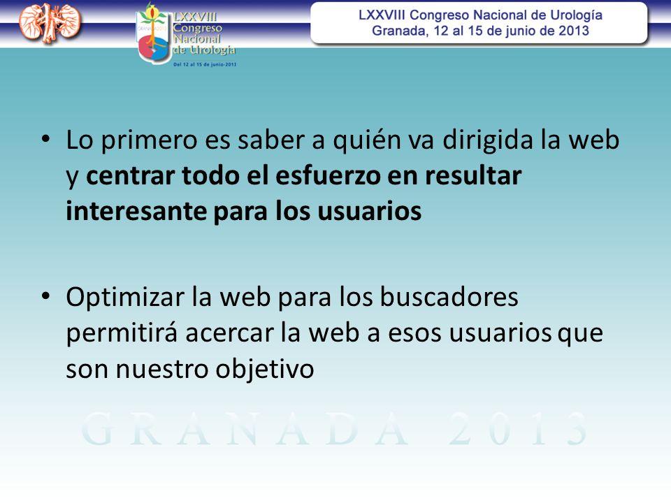 Lo primero es saber a quién va dirigida la web y centrar todo el esfuerzo en resultar interesante para los usuarios
