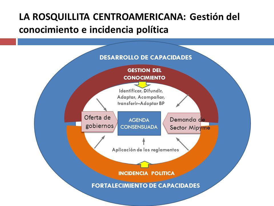 LA ROSQUILLITA CENTROAMERICANA: Gestión del conocimiento e incidencia política