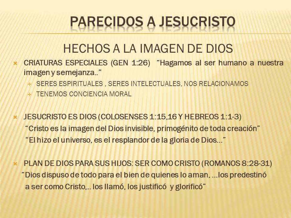 PARECIDOS A JESUCRISTO