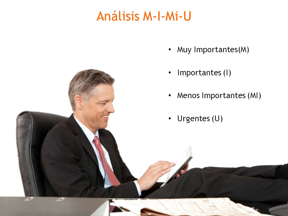 Análisis M-I-Mi-U Muy Importantes(M) Importantes (I)
