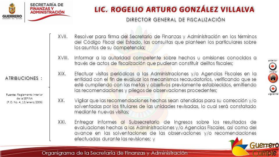 LIC. ROGELIO ARTURO GONZÁLEZ VILLALVA