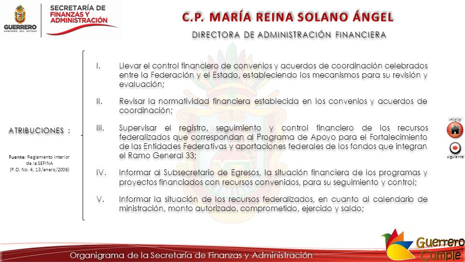 C.P. MARÍA REINA SOLANO ÁNGEL