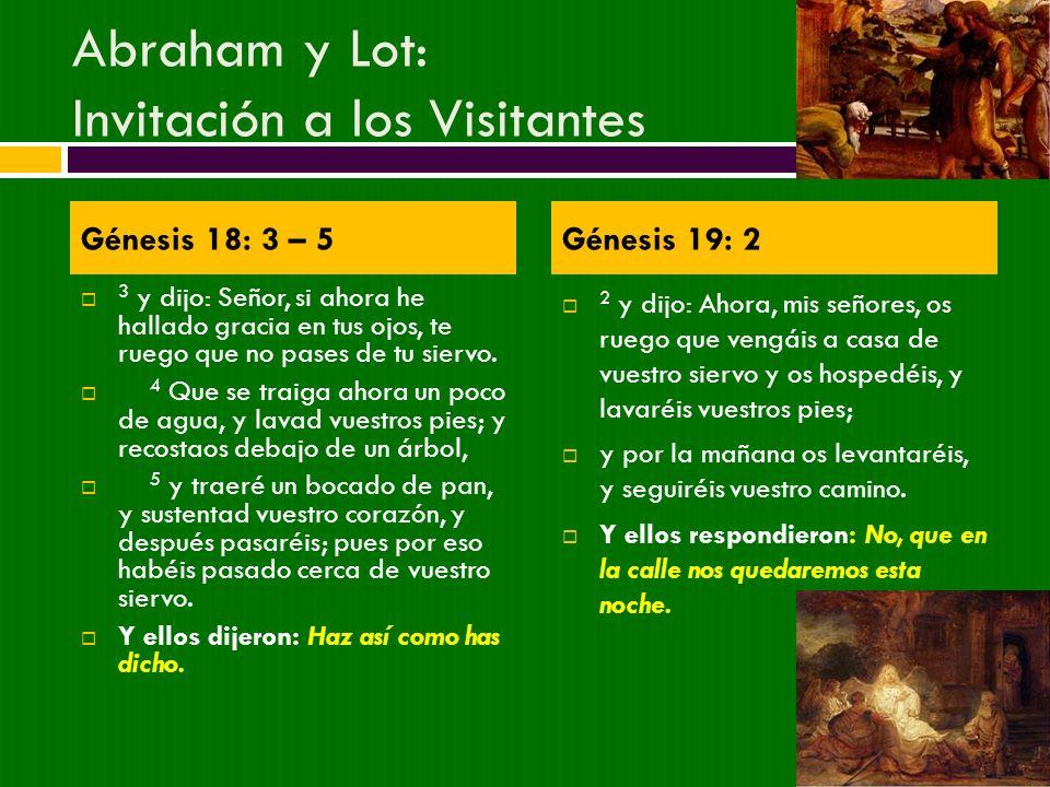Abraham y Lot: Invitación a los Visitantes