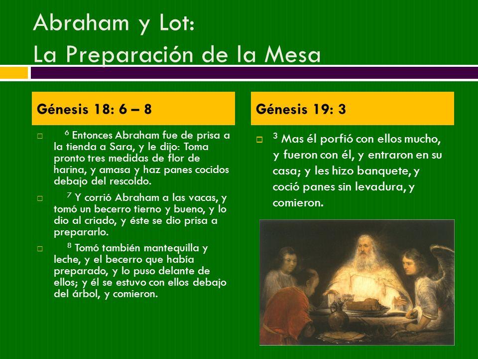 Abraham y Lot: La Preparación de la Mesa