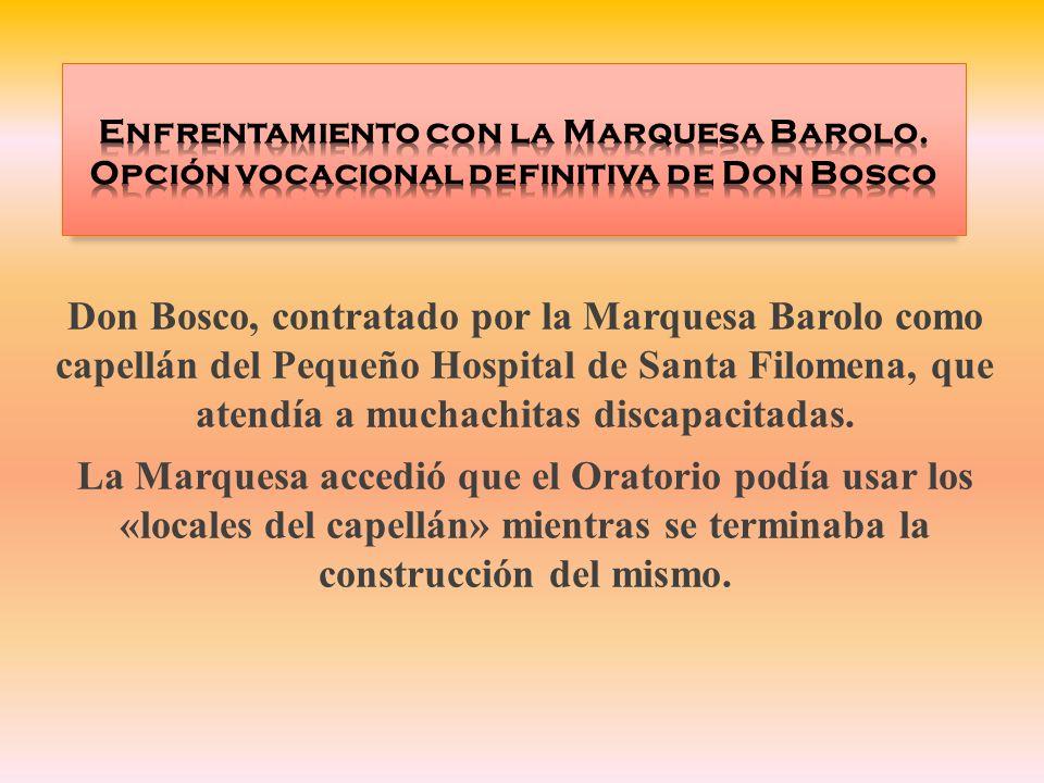Enfrentamiento con la Marquesa Barolo
