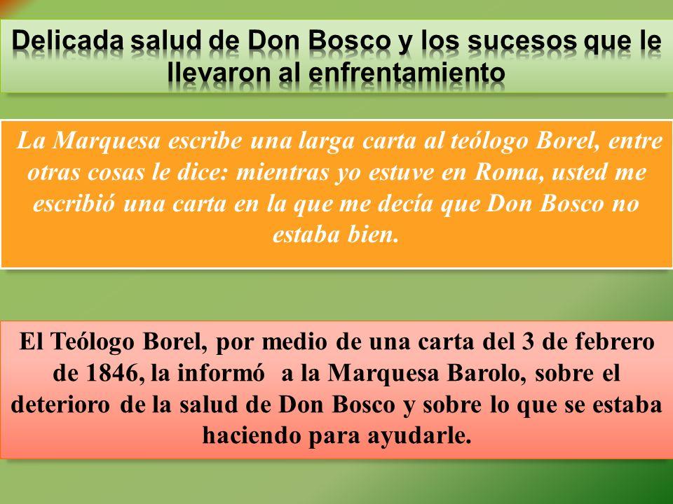 Delicada salud de Don Bosco y los sucesos que le llevaron al enfrentamiento