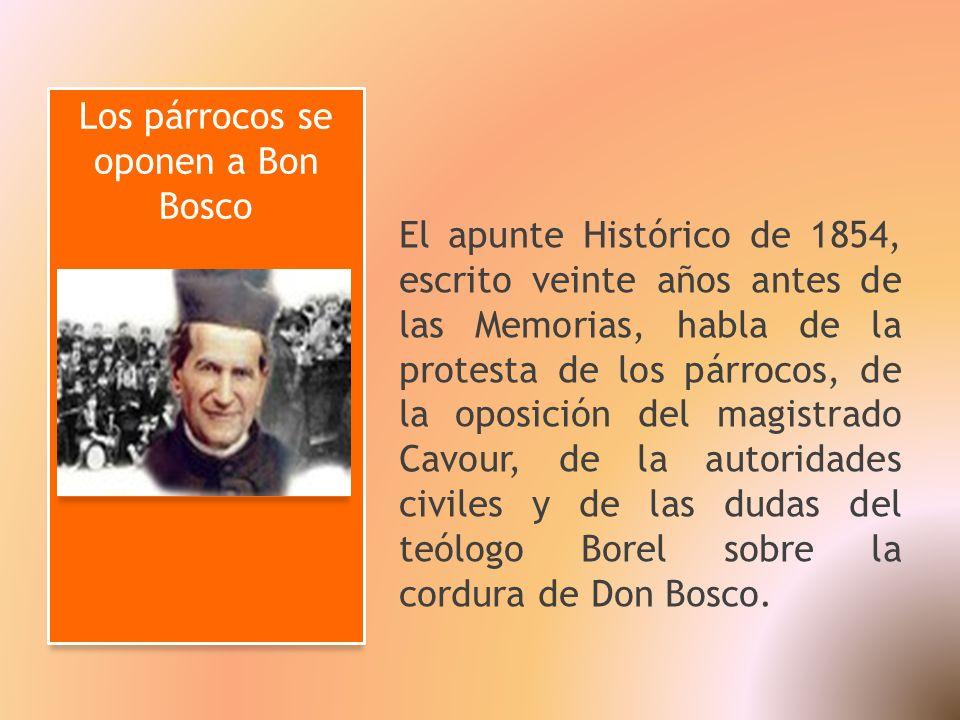 Los párrocos se oponen a Bon Bosco