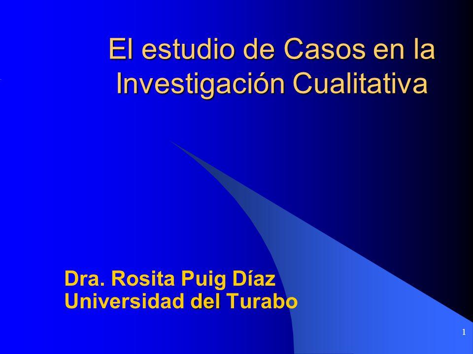 El estudio de Casos en la Investigación Cualitativa