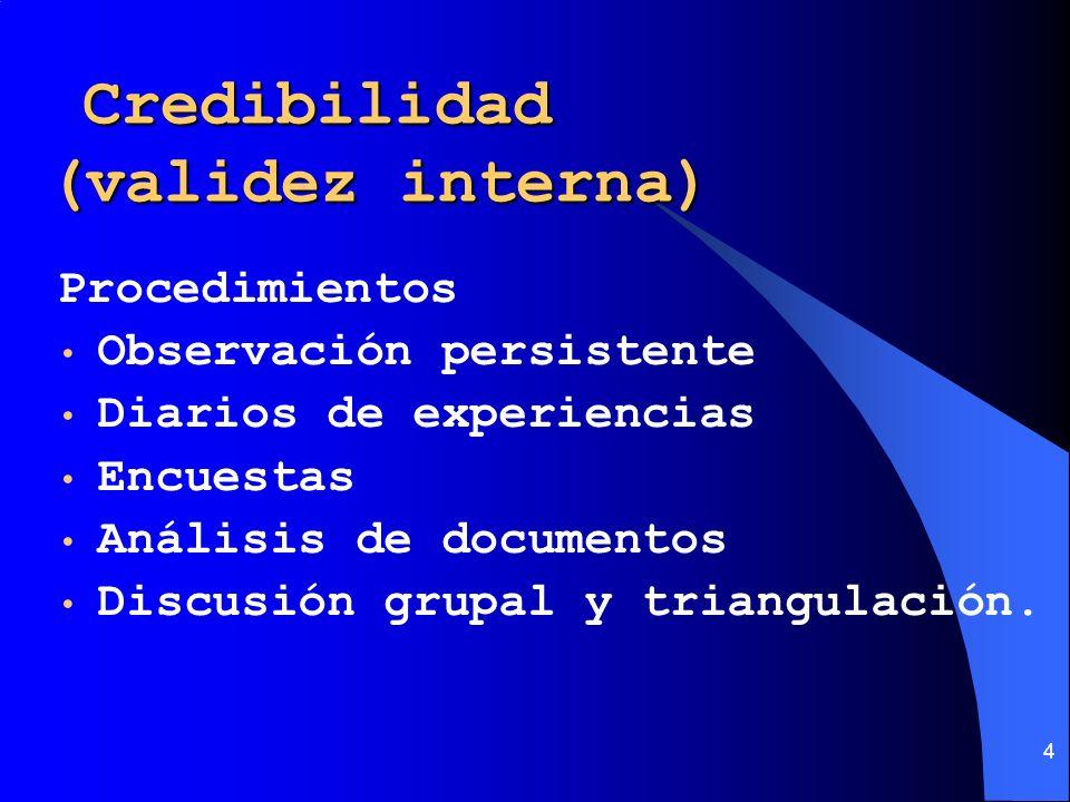 Credibilidad (validez interna)