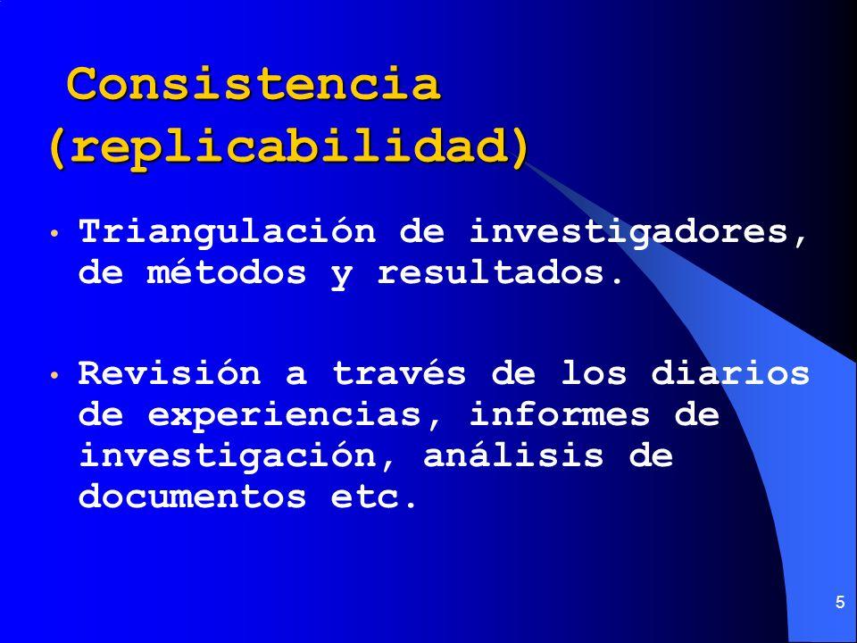 Consistencia (replicabilidad)