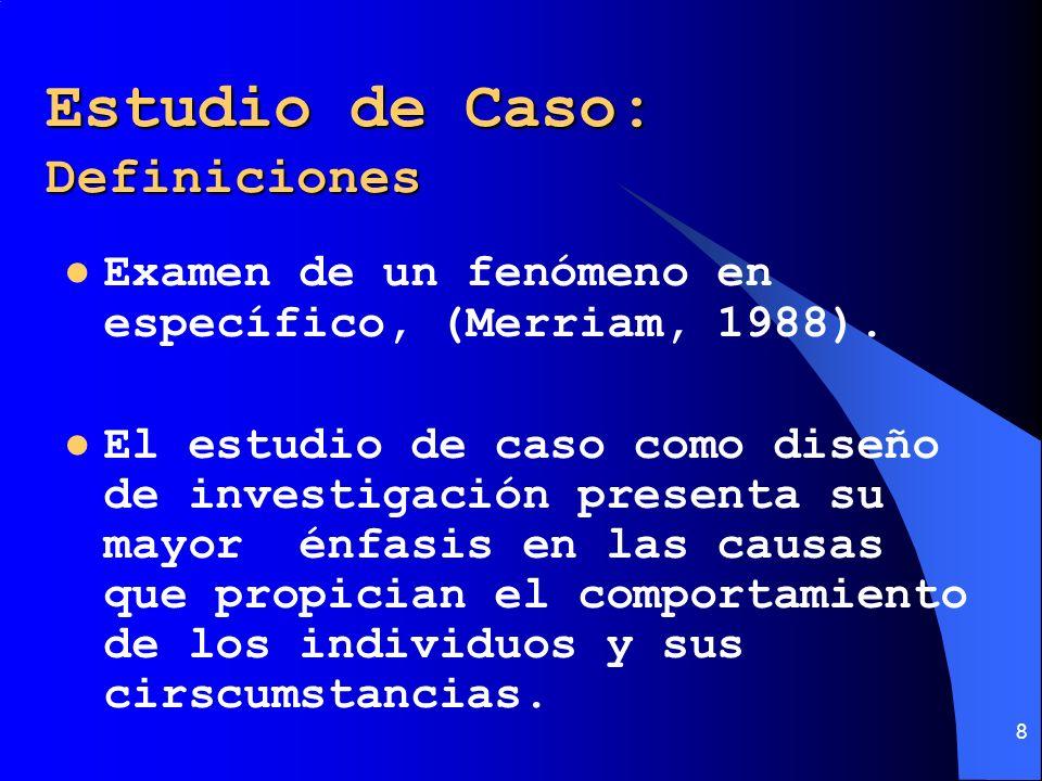 Estudio de Caso: Definiciones