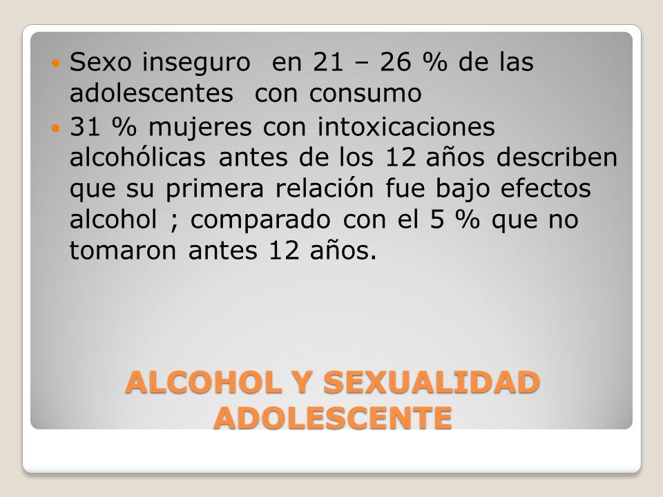 ALCOHOL Y SEXUALIDAD ADOLESCENTE