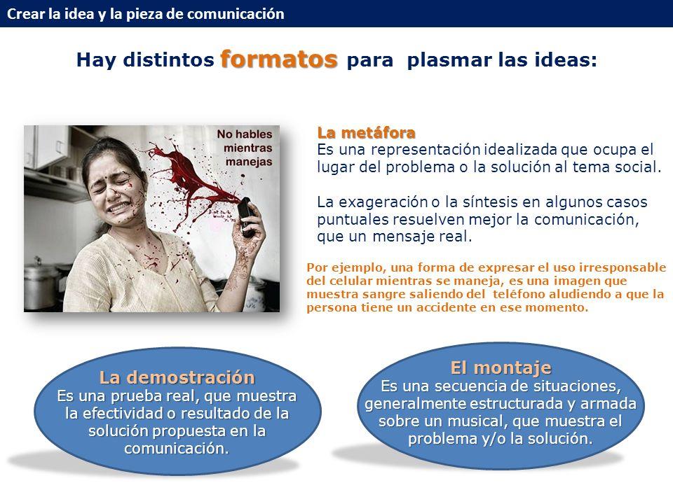Hay distintos formatos para plasmar las ideas: