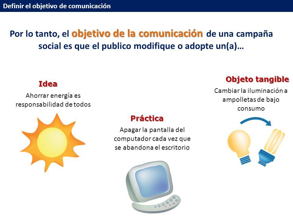 Definir el objetivo de comunicación