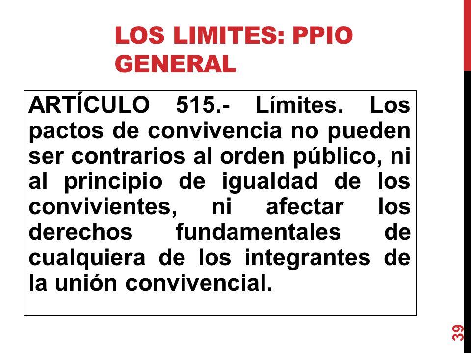 Los limites: PpIO General