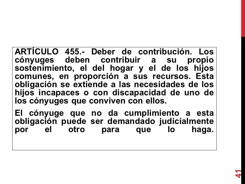 ARTÍCULO 455. - Deber de contribución