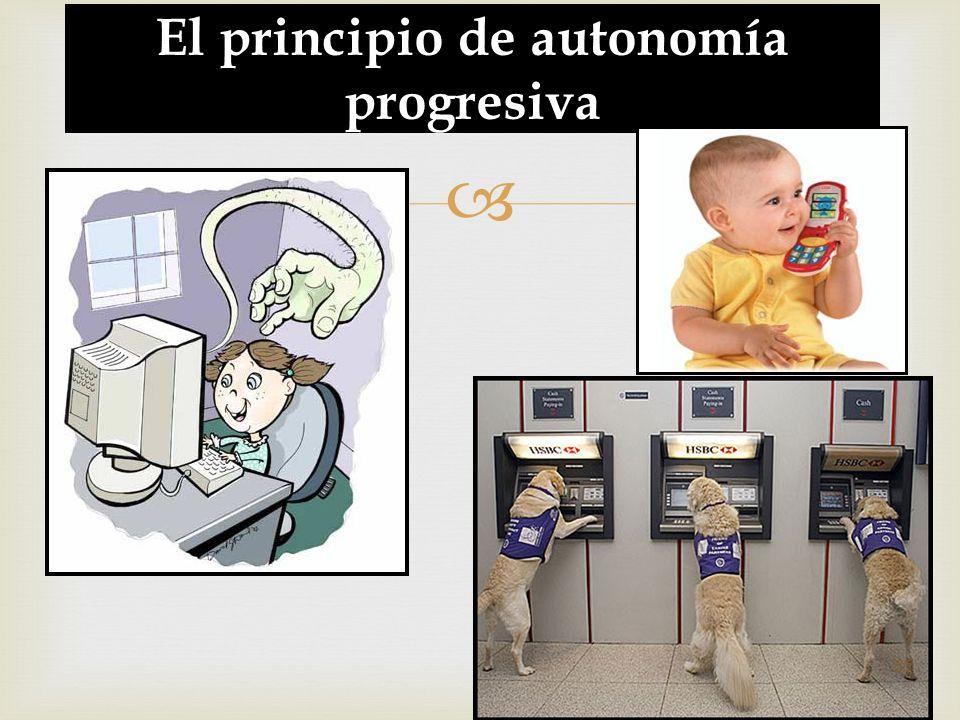 El principio de autonomía progresiva