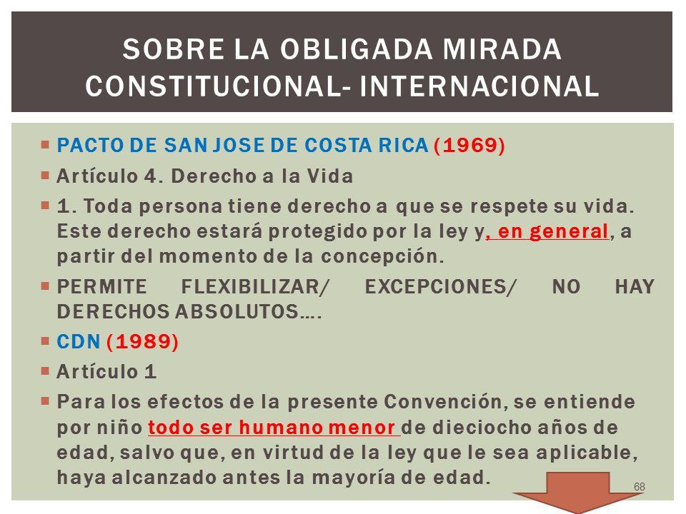 sobre la obligada mirada constitucional- internacional
