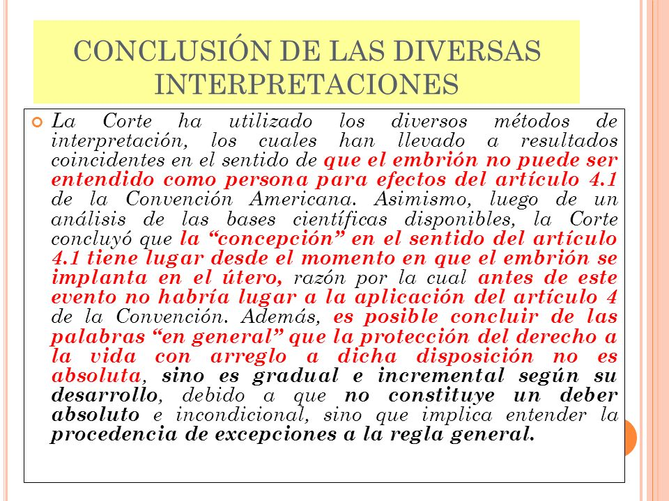 CONCLUSIÓN DE LAS DIVERSAS INTERPRETACIONES