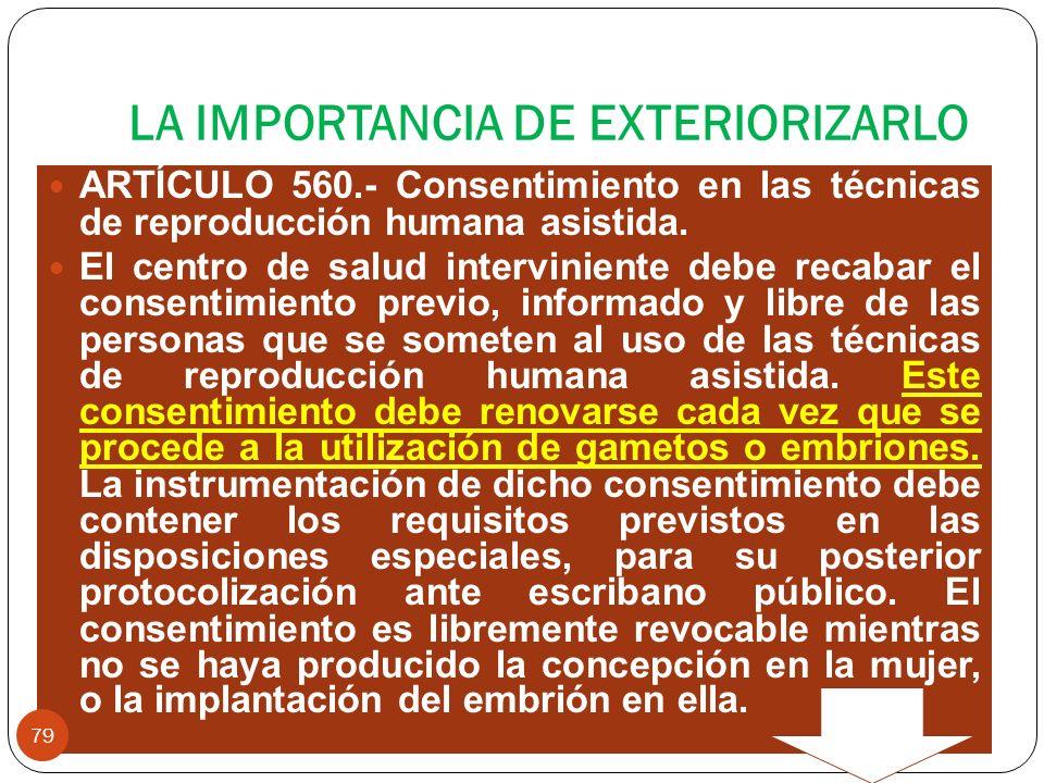 LA IMPORTANCIA DE EXTERIORIZARLO