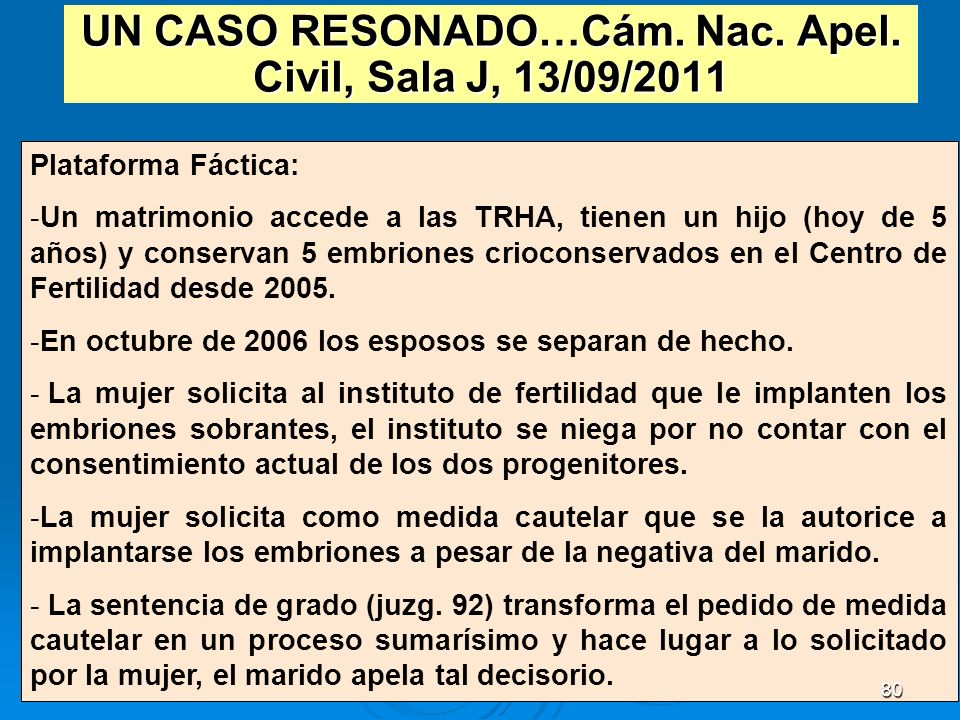 UN CASO RESONADO…Cám. Nac. Apel. Civil, Sala J, 13/09/2011
