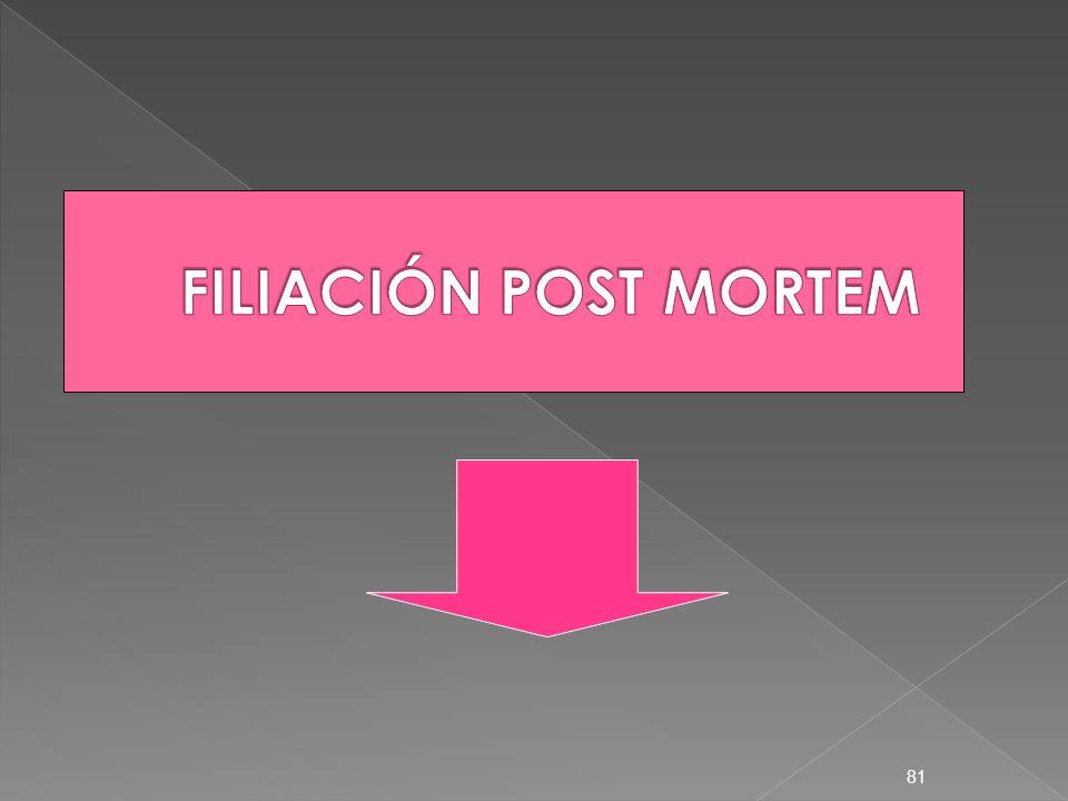 FILIACIÓN POST MORTEM