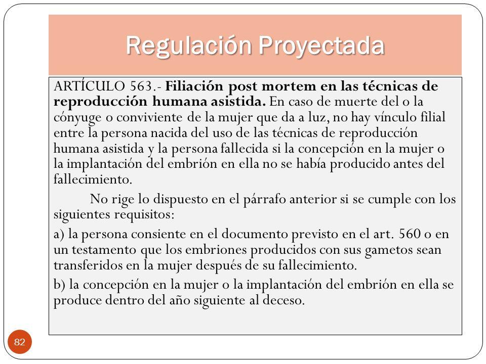 Regulación Proyectada