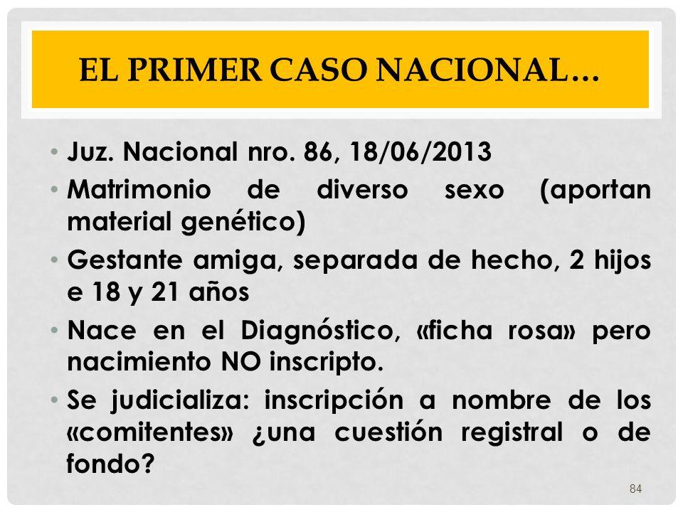 EL PRIMER CASO NACIONAL…